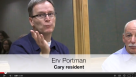 Concerned Cary resident speaks up at public forum on gerrymandering.