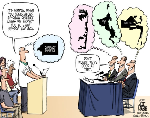 Image result for political cartoon redistricting